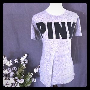 PINK CAMPUS TEE WITH CORSET BACK